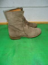 Fiorentini + Baker Gray Suede Leather Lace Up Ankle Boot Women SZ#37