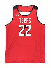 New UA Maryland Terps Reversible Basketball Practice Jersey Men's L White Red