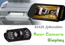 "7"" TFT HD Car SUV Rearview Mirror LCD Monitor Display 7LED IR Reserve Camera Kit"