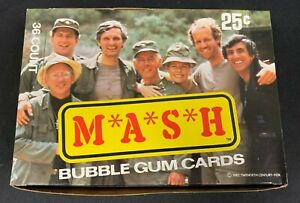 1982 VINTAGE DONRUSS *M*A*S*H* WAX BOX 36 SEALED PACKS MINT CONDITION M
