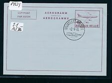04239) Belgien GA Aerogramme LF 12bIV 4,50F D/F o Bruxelles 2.9.70