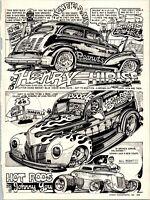 Dave Bell Art Comic Strip Henry Hirise Minnesota Rat On Hot Rod 1987 Cartoon