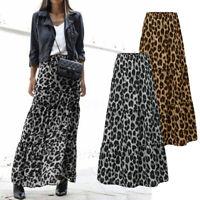ZANZEA Femme Jupes Imprimé léopard Taille elastique Casuel en vrac Plissé Plus