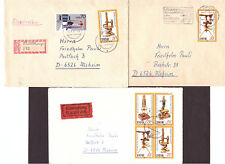 DDR 3 Briefe 2536 einzeln, 2537 und WZd463 gemischt, alles Briefe aus Leipzig