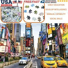 Us Times Square 1000 piece Jigsaw Puzzles For Adults Kid Learning Education Game