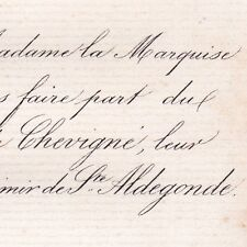 Louise De Chevigné 1863 Casimir De Sainte-Aldegonde
