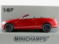 Minichamps 870 037032 Mercedes-AMG C63 Cabrio (2019) in rotmet. 1:87/H0 NEU/OVP