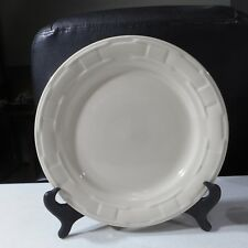 Longaberger Pottery Woven Traditions Dinner Plate Ivory #31846