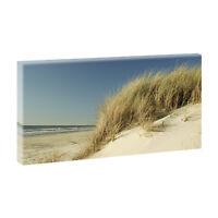 Strand 2 Bild Strand Meer Dünen Nordsee Leinwand  Poster XXL 160 cm*80 cm 623