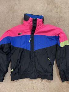 Vintage 90's Columbia Wizbang Neon Jacket removable fleece liner Men's Size M