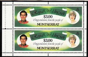 (71559) Montserrat MNH Princess Diana Royal Wedding Booklet Pane 1981 u/m mint