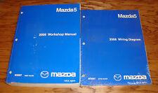 Original 2008 Mazda Mazda5 5 Shop Service Manual + Wiring Diagram Set 08