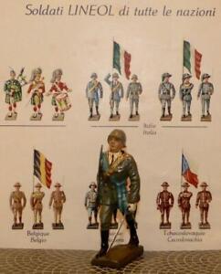 ONLY 1937/40 Scarce-WW11 Italian Officer March w/Sword-Lineol-Elastolin-Hausser