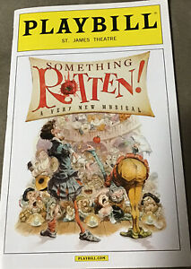 Something Rotten Playbill Original Broadway Cast & Stub Christian Borle