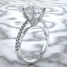 1 Carat Diana Rafael 14K Natural F/SI 1 White Gold Round Diamond Engagement Ring