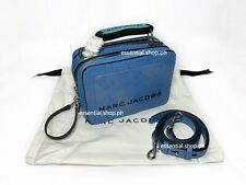 ON HAND BNEW AUTH Marc Jacobs The Mini Box Bag in Bright Blue