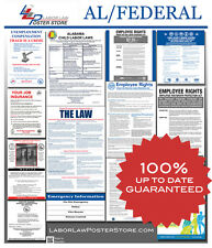 2018 Alabama AL State & Federal all in one LABOR LAW POSTER workplace compliance