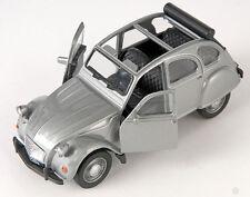 BLITZ VERSAND Citroen 2 CV offen silber / silver Ente Welly Modell Auto NEU OVP