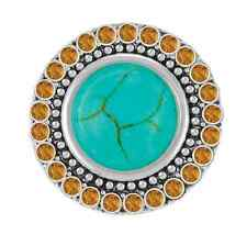 Buy 4, Get 5Th $6.95 Snap Free Ginger Snaps™ Turquoise W/ Topaz Crystals Jewelry