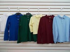 Boys IZOD Assorted Long Sleeved Uniform Polos Size 4 - 18/20H