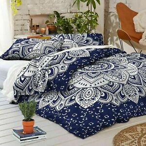 Indian Mandala Cotton Duvet Covet Comforter Set Quilt Cover Bedding Bedspreads