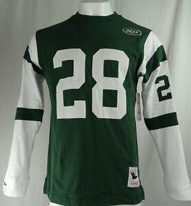 New York Jets NFL Mitchell & Ness Throwbacks '#28 Curtis Martin' Crewneck