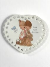 Precious Moments Collectible Mini Plate Heart Shape Cutouts Love One Another
