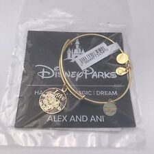 Alex & Ani Minnie & Mickey Mouse Christmas Bangle Bracelet Gold Disney RETIRED