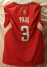 Chris Paul Los Angeles Clippers red adidas Basketball Jersey Youth Size Small