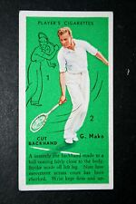 Tennis    Mako    Technique Tips      Original 1930's Vintage Action Card