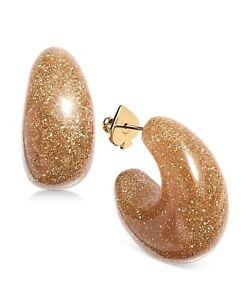 Kate Spade New York Gold Tone Glitter Huggie Small Earrings