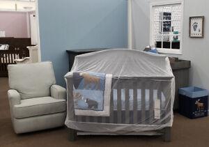 "Net Crib Mosquito Baby Bed Portable Folding Infant Travel White Netting 60""x36"""