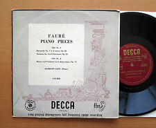 "LM 4528 Faure Piano Pieces Kathleen Long Decca 10"" Mono VG/VG"