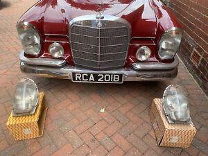 Mercedes Benz W108 W109 W111 W112  Bosch Euro headlight headlamps Pair UK RHD