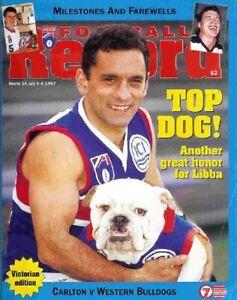 Western Bulldogs Footscray Football Tony Liberatore Record 1997 Mag AFL Footy