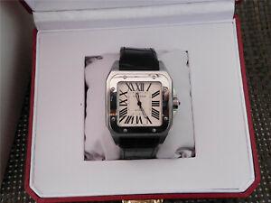Cartier Santos 100 XL Automatic stainless steel Men's Watch  100% Authentic