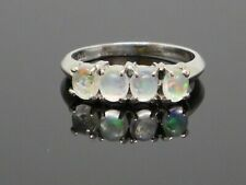Vintage 1.2 CTW Four Moonstone 14K White Gold ring 3g size 6.5