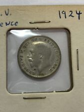 1924 Silver United Kingdom 6-Pence Coin