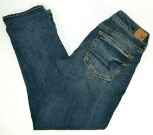 American Eagle Women's Boy Crop Stretch Capri Blue Jeans 2 Reg