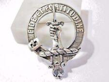 Vintage Silver Tone Scotland Pin Hand Sword Fide Et Fortitudine Buckle 1998