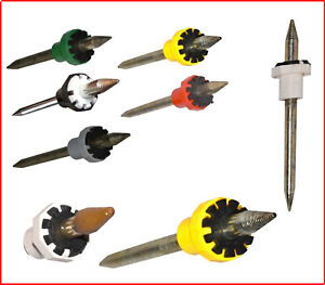 10 Dop Sticks Lapidary Tool with 6,8,10,12 & 14 Facets