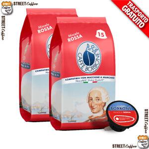 90 Capsule Caffè Borbone Miscela Red Rossa 100% Compatibili Dolce Gusto Nescafè*