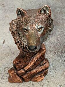 """RARE K. Cantrell LEGENDS 1993  Spirit Of The Wolf Bronze Sculpture 4 3/8"""""""