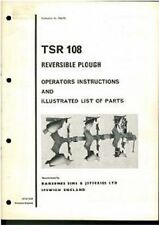 RANSOMES ARATRO tsr108 operatori manuale-TSR 108