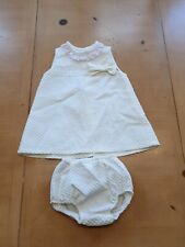 Baby Girl's White Spanish Romany Style Dress Set Size 18 to 24 Months