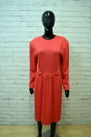 Vestito Donna LUISA SPAGNOLI Taglia 46 Abito Tubino Dress Robe Cotone Fucsia