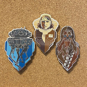 Star Wars Celebration 2020 Pin Empire Set Han Chewbacca Probe Droid New