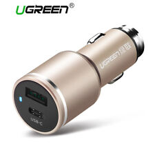 UGREEN Dual USB C Car Charger Type C Car Phone Charger For iPhone LG Samsung HTC