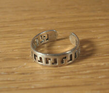 Sterling Silver Size 3.75 India Adjustable Cut Out L Design Toe Ring .925