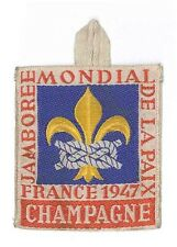 1947 World Scout Jamboree CHAMPAGNE Sub Camp OFFICIAL PARTICIPANTS Patch